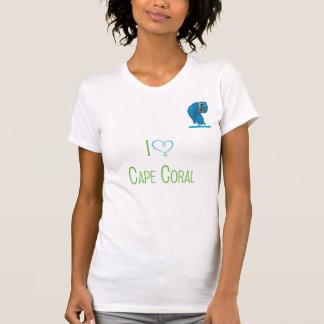 Camiseta Cabo Florida coral que Burrowing o T da coruja