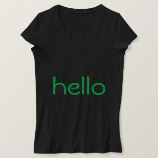 Camiseta Cabouqueiro olá! e T binário da mensagem do adeus