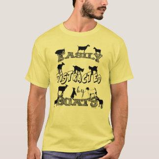 Camiseta CABRA ENGRAÇADA | confundido facilmente por cabras