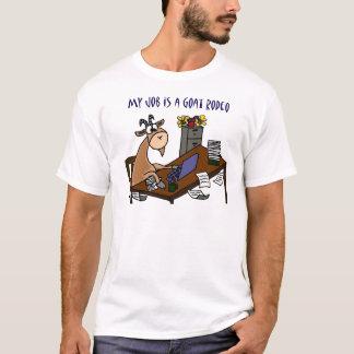 Camiseta Cabra engraçada no humor do trabalho do rodeio da