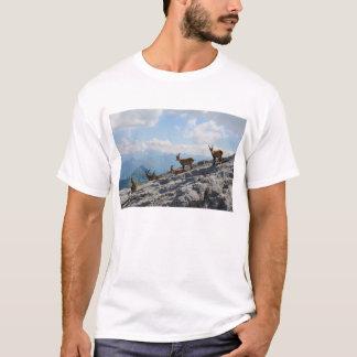 Camiseta Cabras de montanha selvagens do íbex alpino