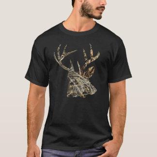 Camiseta Caça dos cervos - Tshirt principal de Camoflauge
