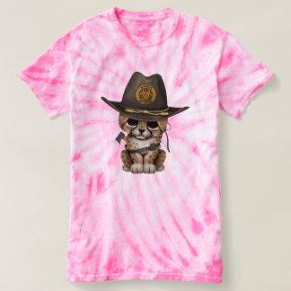 Camiseta Caçador bonito do zombi de Cub da chita