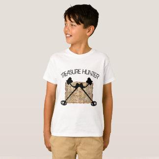 Camiseta Caçador de tesouro com o T cruzado dos detectores