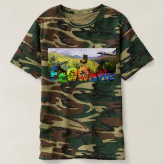 Camiseta Caçador de tesouro do arco-íris de Camo Fennatic