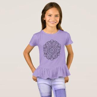 Camiseta Caçoa a arte da mandala da lavanda do t-shirt dos