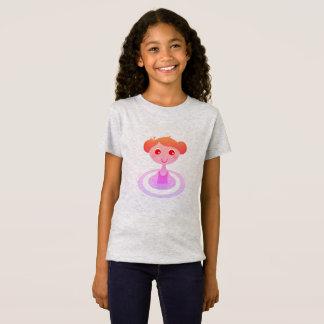 Camiseta CAÇOA o cinza do tshirt com menina da natação