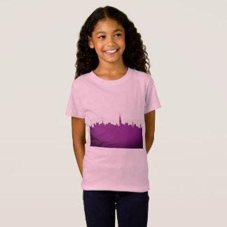 Camiseta Caçoa o rosa do t-shirt com silhueta do townie