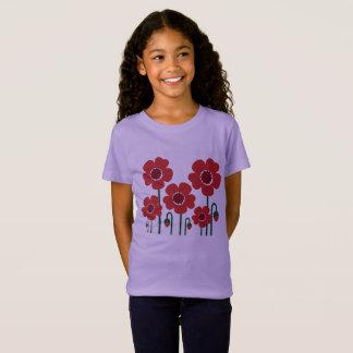 Camiseta Caçoa o t-shirt com edição da lavanda das papoilas