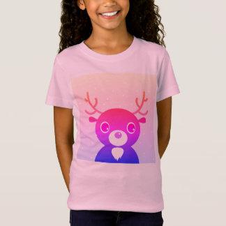 Camiseta Caçoa o t-shirt das meninas com rena roxa