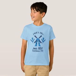 Camiseta Caçoa o t-shirt do aniversário do logotipo do 70