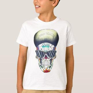Camiseta caçoa o t-shirt novo do crânio do açúcar da escola