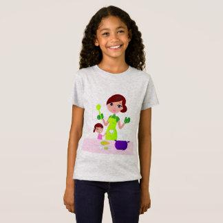 Camiseta Caçoa o t-shirt para a menina com senhora do