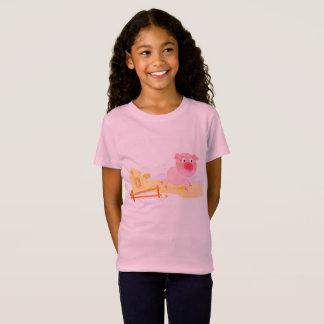 Camiseta Caçoa o tshirt do vintage com porco