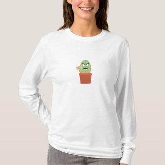 Camiseta Cacto irritado com abraços livres