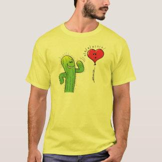 Camiseta Cacto que flerta com um balão do coração