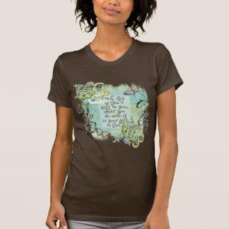 Camiseta Cada dia é-lhe o presente do deus, o t-shirt da