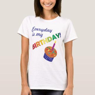 Camiseta Cada dia é meu aniversário!