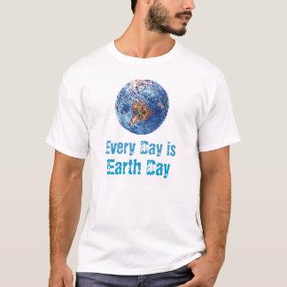 Camiseta Cada dia é t-shirt do Dia da Terra