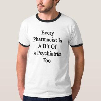 Camiseta Cada farmacêutico é um bocado de um psiquiatra