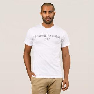 """Camiseta """"Cada homem e cada mulher são uma estrela. """""""