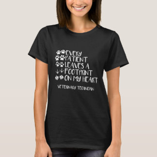Camiseta Cada paciente deixou um t-shirt da tecnologia do