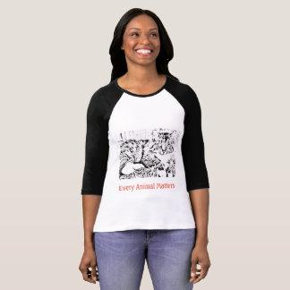 Camiseta Cada t-shirt animal do Raglan do gato da matéria