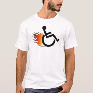 Camiseta Cadeira de rodas flamejante