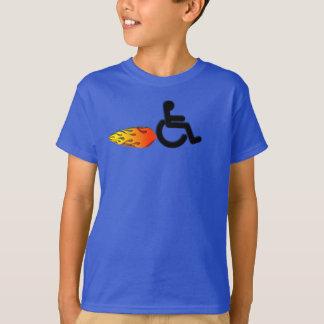 Camiseta Cadeira de rodas rápida com chamas