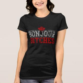 """Camiseta Cadelas Bonjour do canadense engraçado de """""""