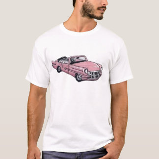 Camiseta Cadillac cor-de-rosa