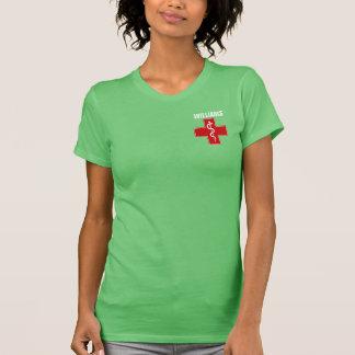 Camiseta Caduceus Rod da enfermeira de Asclepius