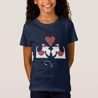 Camiseta Cães brancos de Terrier escocês em amantes do cão