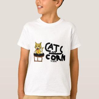 Camiseta Cães de milho do n dos gatos