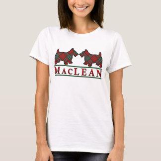 Camiseta Cães do Scottie do Tartan de MacLean do clã