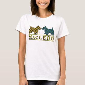 Camiseta Cães do Scottie do Tartan de MacLeod do clã