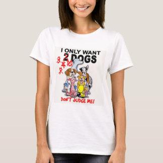 Camiseta CÃES: não me julgue! t-shirt