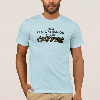 Camiseta Café da necessidade - major da história
