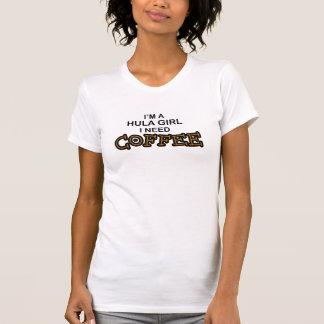 Camiseta Café da necessidade - menina de Hula