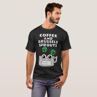 Camiseta Café e couves de Bruxelas