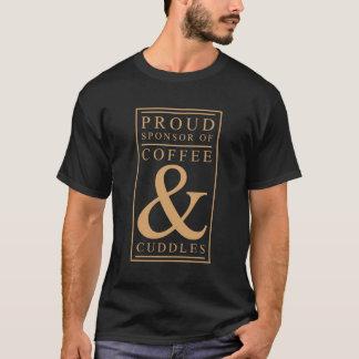 Camiseta Café e t-shirt do gráfico dos afagos