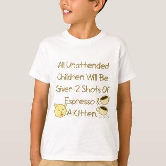 Camiseta Café e um gatinho