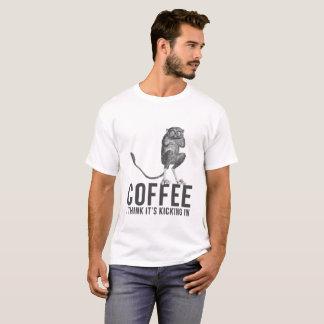 Camiseta Café eu penso seu retrocesso em Tarsier filipino