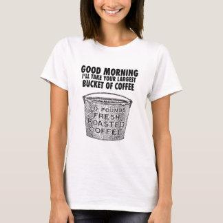 Camiseta Café pelo balde