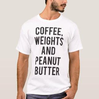Camiseta Café, pesos e manteiga de amendoim - novidade