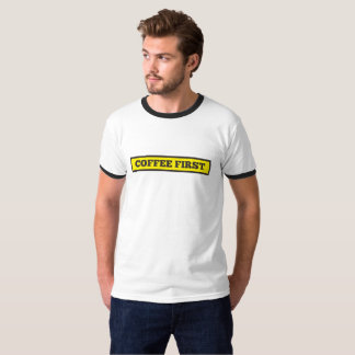 Camiseta Café primeiramente