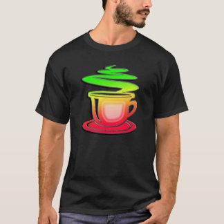 Camiseta Café quente lustroso