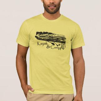 Camiseta Caiaque e acampamento