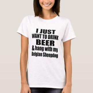 Camiseta Cair com meu Sheepdog belga