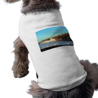 Camiseta Cais da tempestade da onda de oceano